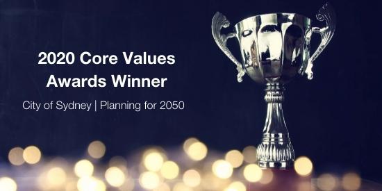 2020 Core Values Awards Winner - City of Sydney
