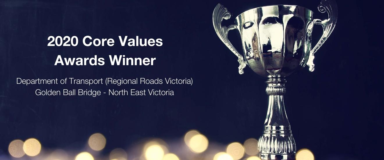 2020 Core Values Awards Winner   Department of Transport